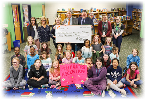 Girl Scouts Check Presentation