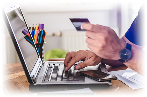 Online shopping with a store card