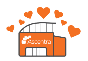 Ascentra branch with hearts