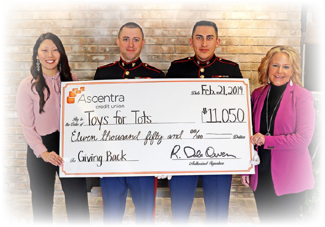Toys for Tots Check Presentation